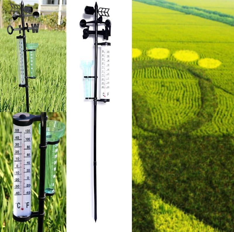 Tuin Outdoor Weerstation Meteorologische Measurer Vaan Tool Wind Regen Gauge G25 Grote Waarde April 4
