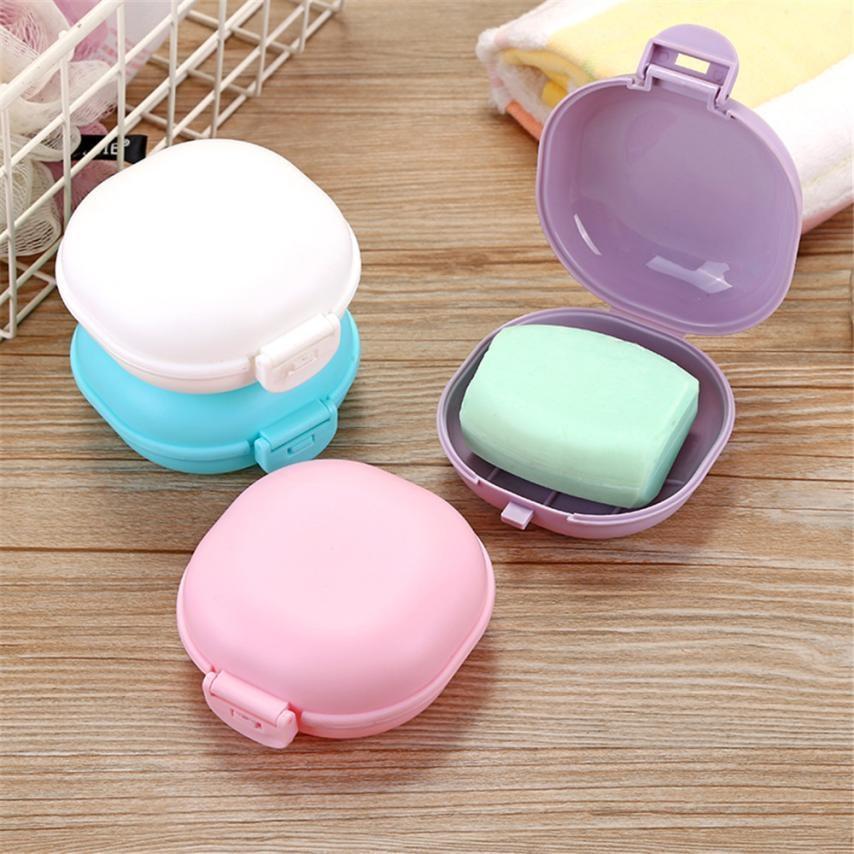 Novo caso da placa de prato do banheiro casa chuveiro viagem caminhadas titular recipiente caixa sabão zeepbakje porte savon jabonera sabonete titular prato