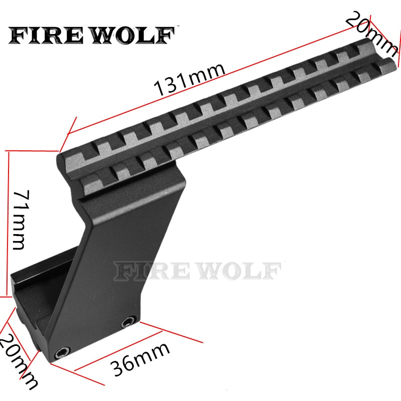 Fogo lobo tactical weaver picatinny superior & inferior ferroviário pistola de pistola âmbito montagem se encaixa glock pistolas frente vermelho ponto laser vista