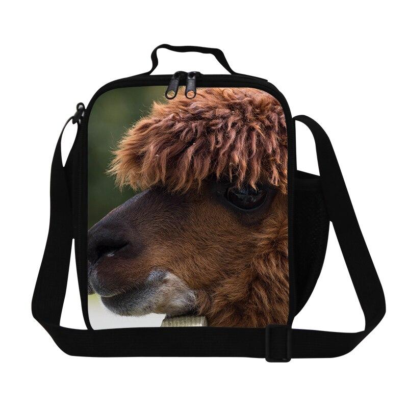 Bolsa de almuerzo para niños con animales en 3D, bolsa de almuerzo térmica, caja Lancheira térmica Infantil, bonita ilustración de Alpaca, bolsa de comida de Picnic familiar