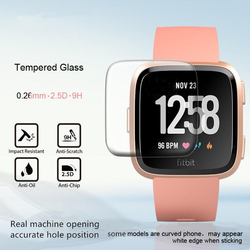 2 uds 3D para reloj Fitbit Versa película templada para Fitbit Versa reloj inteligente película templada película deportiva