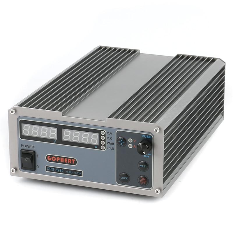 Alimentation numérique cc Compact réglable   Haute efficacité, prise ue AU, 32V 32A OVP/OCP/OTP, alimentation de laboratoire