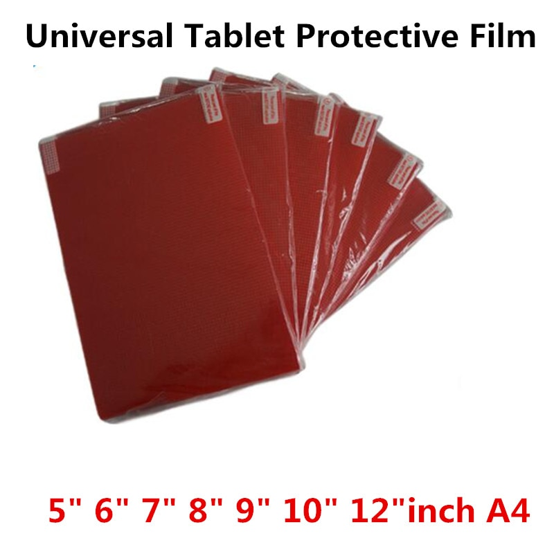 Clear Soft Tablet PC Screen Protector For Universal 5.0 6.0 7.0 8.0 9.0 10 12 inch A4 Car GPS Game C