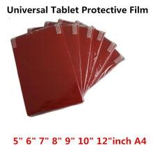 Clair doux tablette PC protecteur décran pour universel 5.0 6.0 7.0 8.0 9.0 10 12 pouces A4 voiture GPS jeu général propre Film de protection
