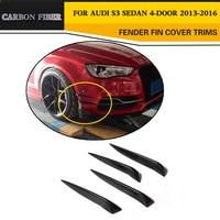 Carbon Fiber Auto Car Front Bumper Chin Decoration sticker For Audi S3 Sedan 4-Door 2013-2016