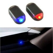 1PCS Solar Power Car Alarm Lamp Security System Warning Theft Flash For Toyota Corolla Camry CHR RAV4 avensis yaris auris