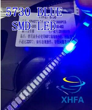 4000 Uds 5630/5730 SMD/SMT azul SMD 5730 LED montaje superficial azul 3,0 ~ 3,6 V 460-475nm Ultra Birght Chip de diodo Led 5730 azul