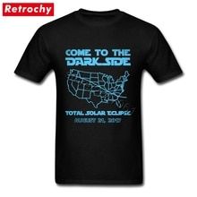 Come To The Dark Side Total Solar Eclipse футболка, Звездные войны, Мужская гранж стиль, короткий рукав, Crewneck, городская футболка, дешевая одежда