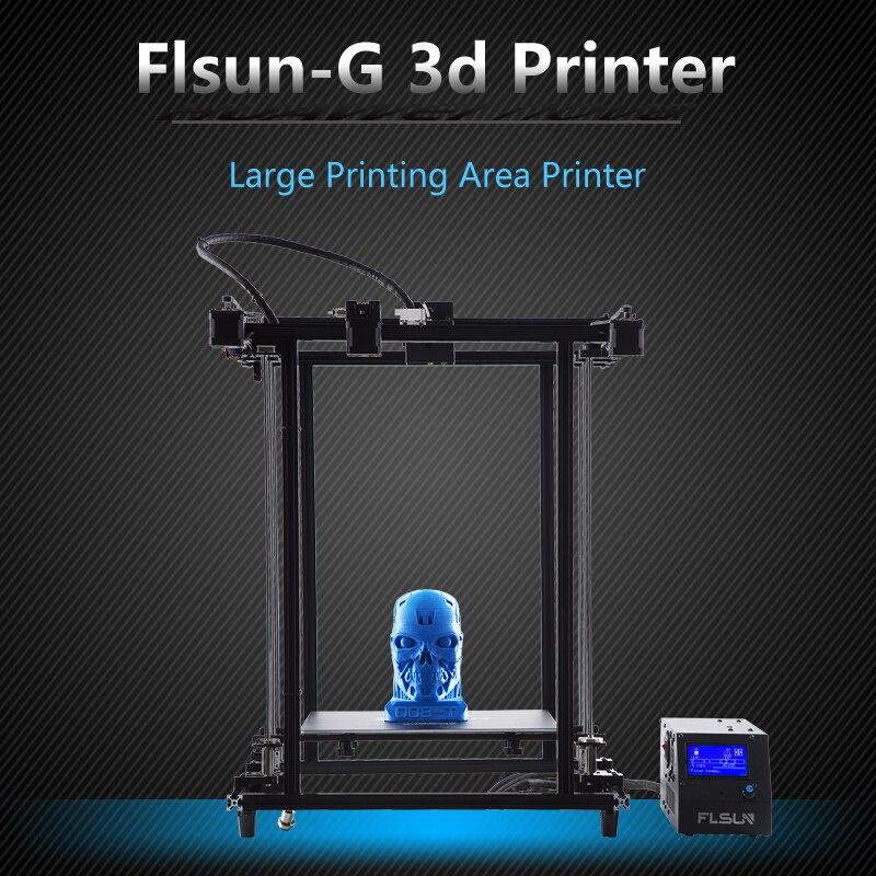 2019 impresora 3D Flsun Corexy de talla grande 320 320*460mm pre-montaje marco de Metal v-slot doble Z tornillo de plomo Heatbed