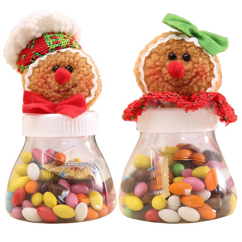 Frasco para caramelos navideño decorativo para hombre y mujer, decoración para dulces, contenedor, caja de dulces para regalar, contenedor
