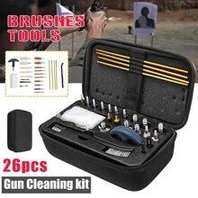 범용 총 청소 키트 소총 권총 권총 샷건 브러쉬 도구 휴대용 총 청소 세트 슈팅 사냥 액세서리