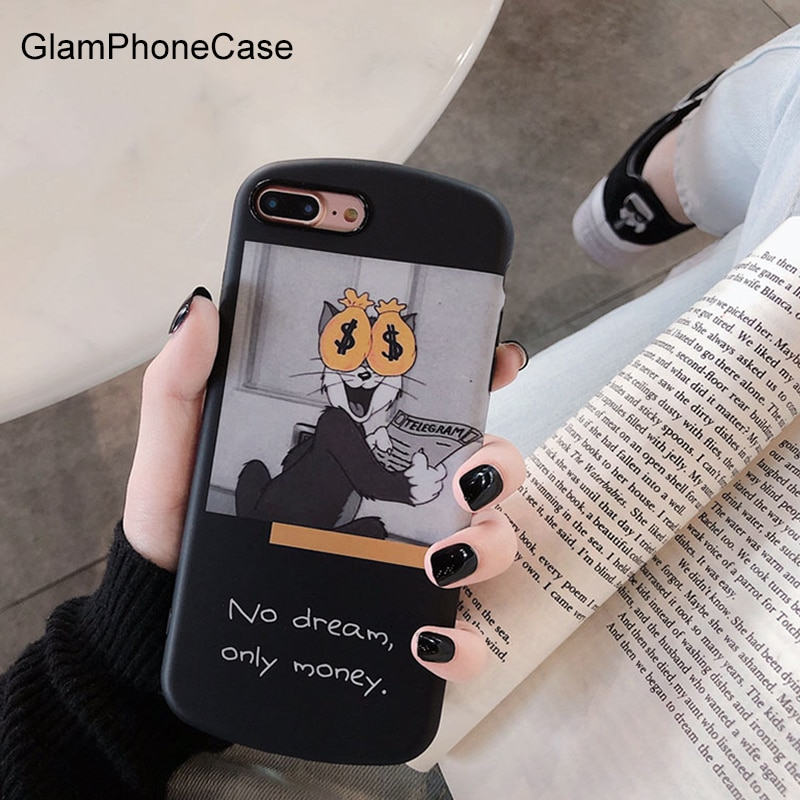 GlamPhoneCase dinero divertido teléfono caso para iPhone XS Max XR XS X 8 8 7 más 7 6 S/6/6 plus de dibujos animados lindo funda trasera suave TPU