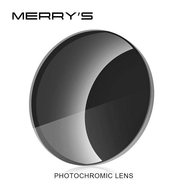 Gafas asféricas de resina CR-39 graduadas MERRYS Photochromic Series 1,56 1,61 1,67, gafas de sol para Miopía