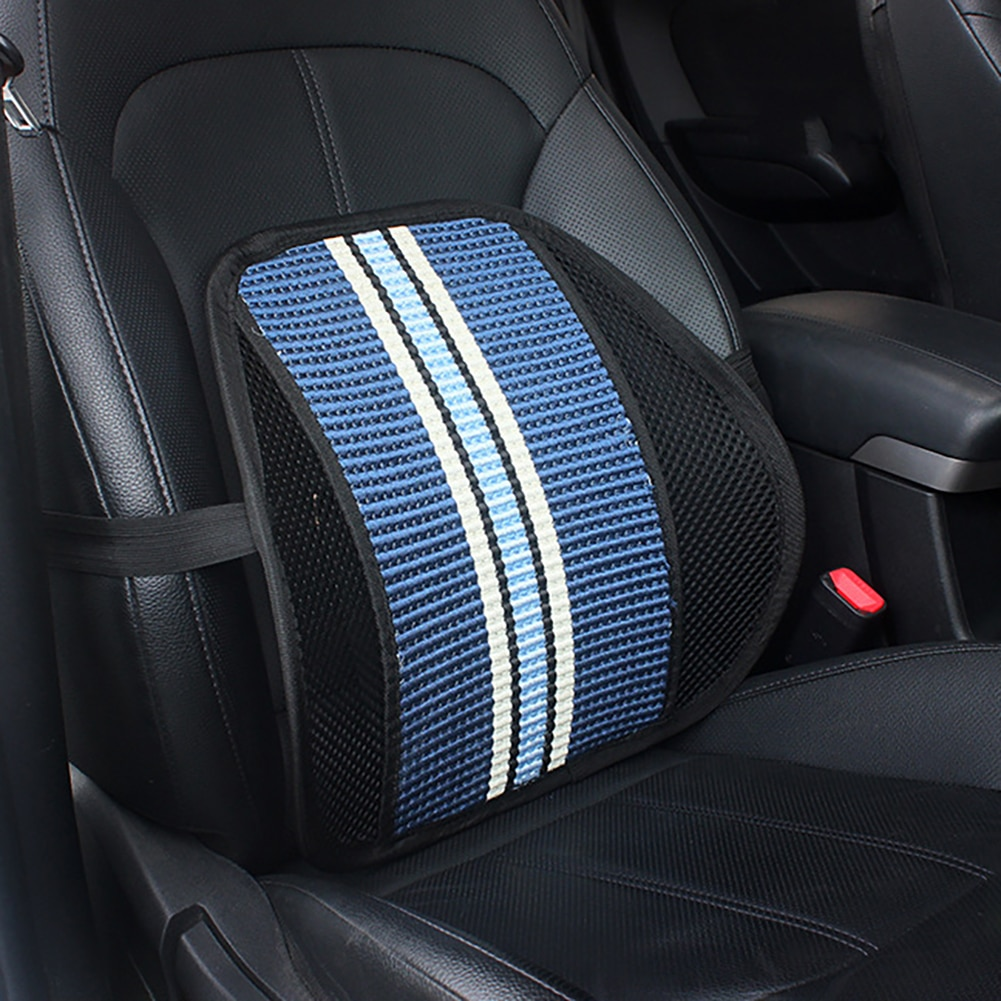 Nuevo soporte Lumbar con cojín de malla de doble capa de soporte trasero para el coche, oficina, hogar, asiento, oficina, Silla Lumbar, respaldo