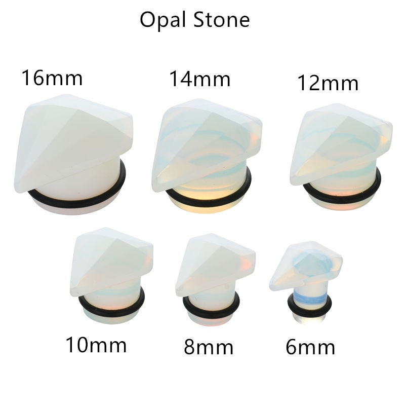 Lote 60 piezas diamante piedra oído túneles oreja tapones oreja Piercing cuerpo joyería envío gratuito medidores 6-16mm