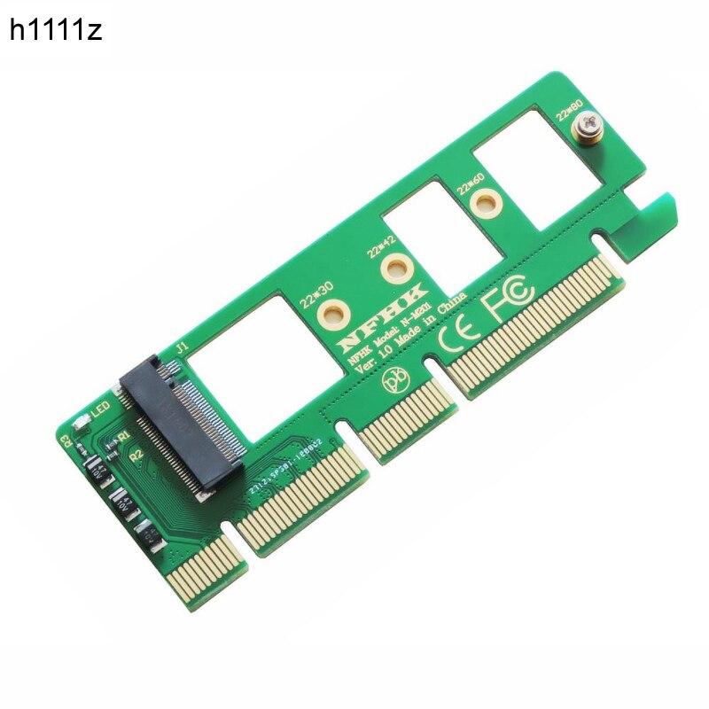 PCIE para Adaptador PCI-E PCI Express 3.0X4X8 M2 X 16 para NGFF M Chave M.2 NVME AHCI SSD Adaptador De Cartão Riser para XP941 SM951 PM951 A110