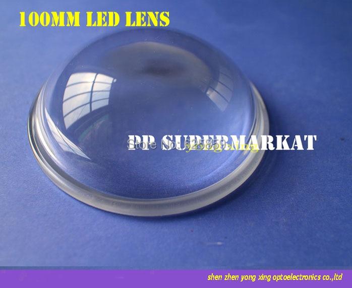 Reflector de lente LED de 100mm de 5-90 grados para 20 w 30 w 50 w 80w100w LED de alta potencia
