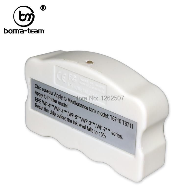 T6711 WF-3520 Caixa De Manutenção De Chip Resetter Para Epson 3530 3540 3620 3640 7710 7720 7510 WF-7520 WF-7610 WF-7620 WF-7110 L1455