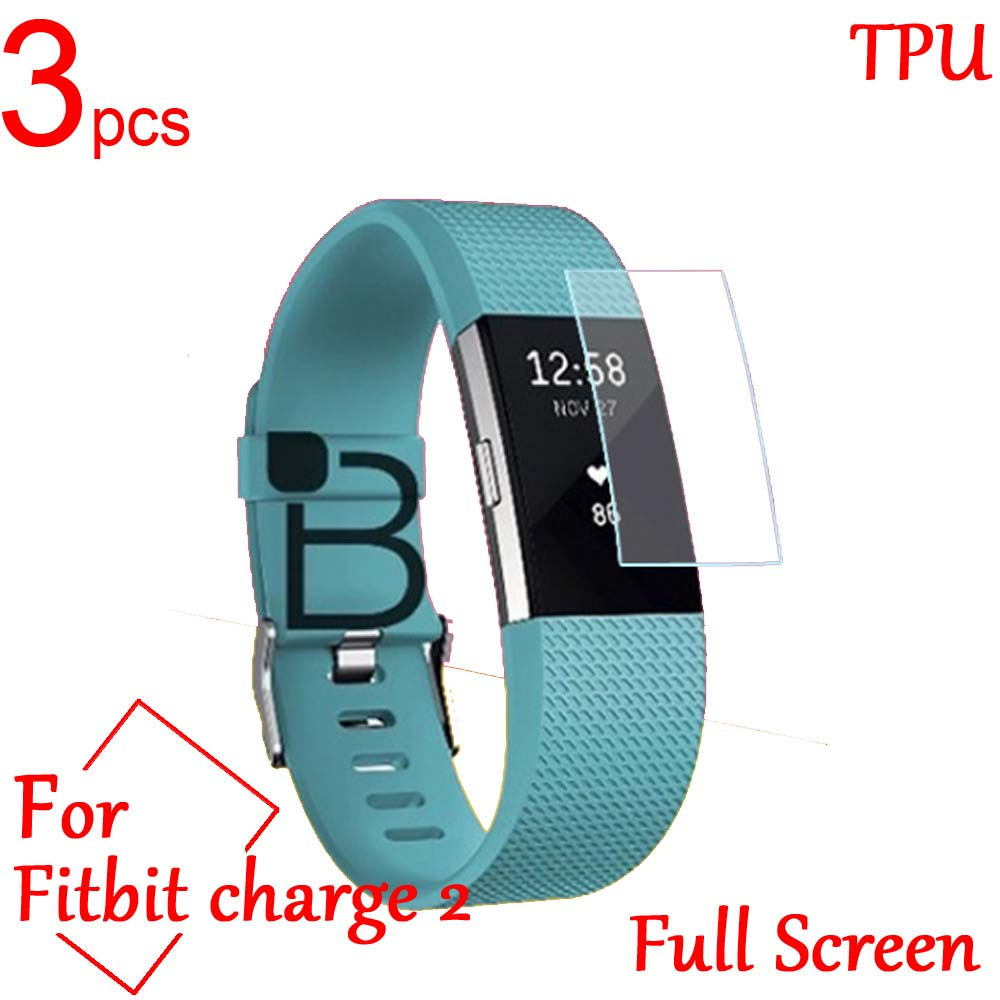 3 uds Ultra claro TPU suave LCD cubierta protectora de pantalla completa para Fitbit alta carga balze 2 Ionic Band SmartWatch película protectora