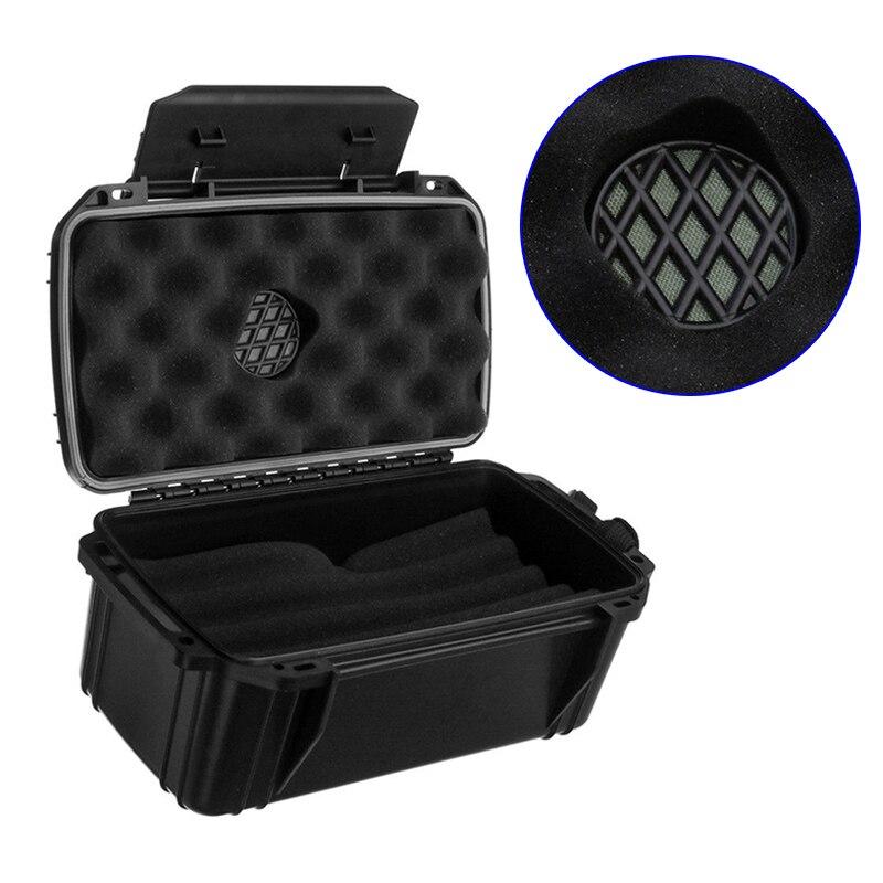 High Waterproof Dustproof Shockproof 15 Cigar Case Box Home Travel Supplies with Humidor  LG66