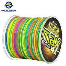 1000 m 현대 낚시 라인 최대 시리즈 여러 가지 빛깔의 1 m 1 색 multifilament pe 꼰 낚시 밧줄 4 가닥 묶어 줘 와이어 8 ~ 90lb