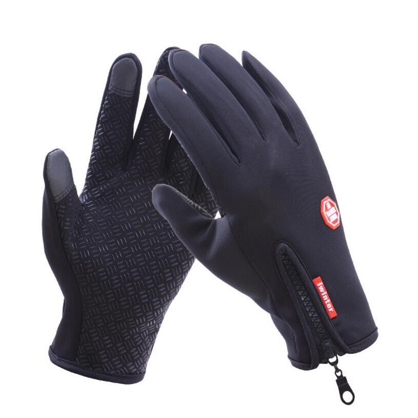 A prueba de viento deportes al aire libre de esquí guante de pantalla táctil bicicleta ciclismo guantes montañismo militar guantes para carreras de motos S-XL