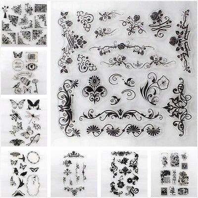 Alphabet Blumen Transparent Silikon Briefmarken Blatt Haftenden Scrapbooking DIY Stempel Mulit designs hand made Briefmarken