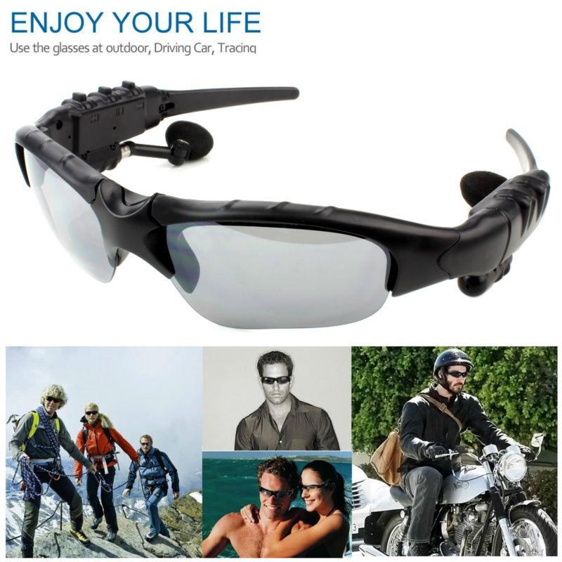 Esporte fone de ouvido Estéreo Fones De Ouvido Sem Fio fone de Ouvido Bluetooth 3 colorido lentes de Sol Óculos De Sol mp3 Óculos de Equitação para lenovo sony xaomi xiomi