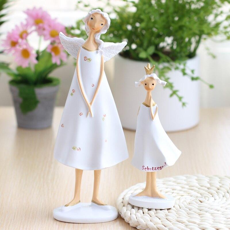 Poly standing fairy angel family mum baby living room decorative  gifts wedding newborn present