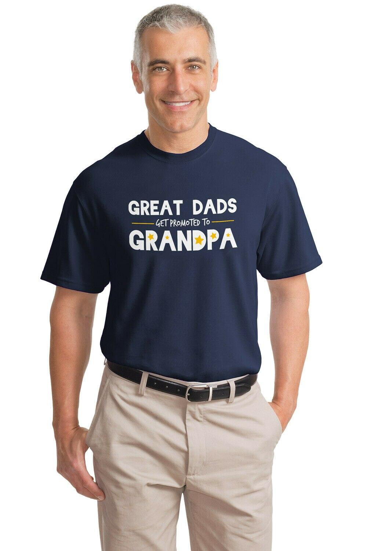 ¡Los grandes Padres son ascendidos al abuelo! Camiseta divertida de manga corta para hombre con Humor de abuelo