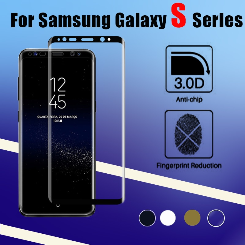 Vidrio protector para samsung galaxy verre tremp s8 s9 s7 s6 edge plus vidrio templado película s 9 8 7 6 protector de pantalla samsug 9 s