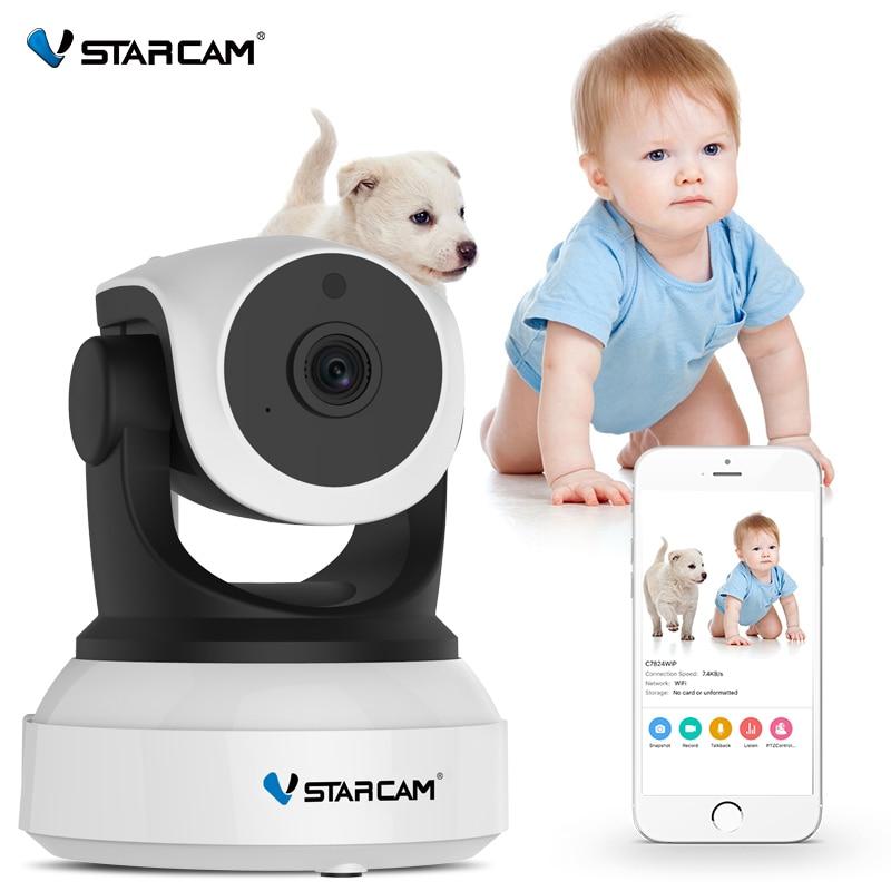 Vstarcam-كاميرا مراقبة الطفل ، جهاز أمان لاسلكي 720 بكسل مع رؤية ليلية بالأشعة تحت الحمراء ، تسجيل صوتي ، كاميرا IP عالية الدقة C7824WIP
