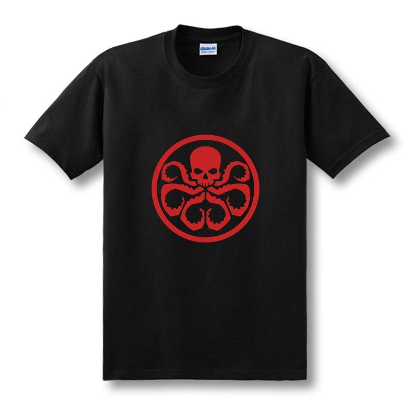 Новая мода Мстители Капитан Америка красный череп Гидра печатная Футболка Мужская Camisetas Femininas манга Курта Camisa футболка Размер
