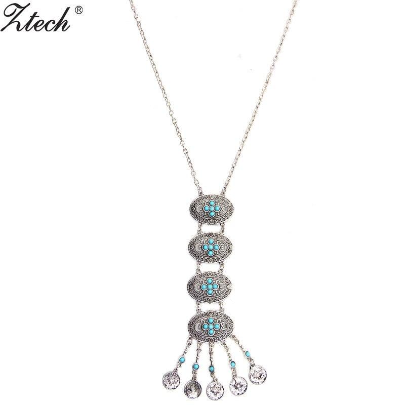 Ztech moeda colares para mulheres 2020 beleza menina artesanal jewerly retro vintage camisola colar colar gargantilha gótico colar