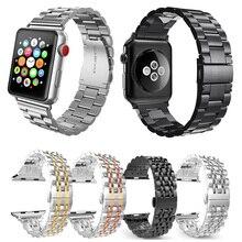 Boucle papillon en acier inoxydable pour bracelet de rechange en métal pour montre Apple 44mm 40mm série iwatch 5 4 3 2 édition Sport 38mm 42mm