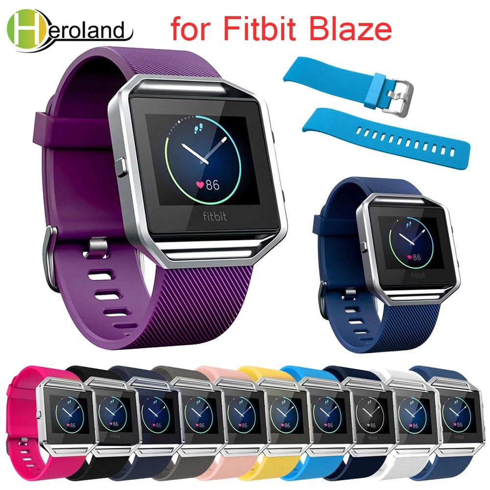 Nueva pulsera deportiva de gran tamaño en varios colores para Fitbit Blaze Band, correa de silicona suave para reloj Fitbit Blaze de 23mm de ancho