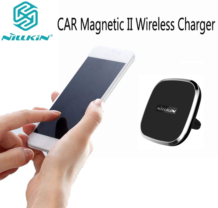 Cargador inalámbrico Nillkin para coche magnético II, Modelo General QI estándar, soporte de teléfono móvil para coche, carga inalámbrica
