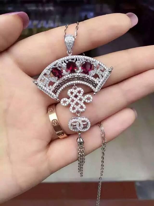بروش من حجر العقيق الأحمر الطبيعي S925 ، بروش من الفضة والأحجار الكريمة الطبيعية ، قلادة ، عقدة صينية ، شرابة ، للنساء