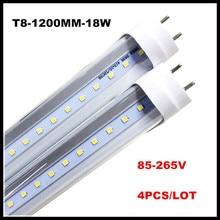 T8 LED 4 pieds Tube lampe 18 W 22 W 4FT Tubes lumière G13 1200mm remplacement Fluorescent luminaire AC85-265V Tube LED laiteux clair couverture