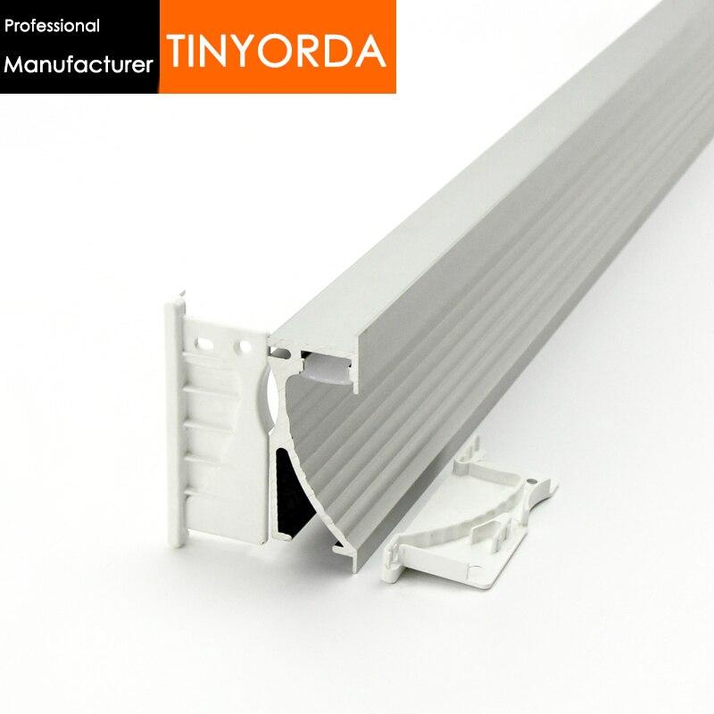 Tinyorda 100Pcs(2M Length)Alu Led Strip Profile Led Step Light Profil for 14mm Strip Light [Professional Manufacturer]TAP7026
