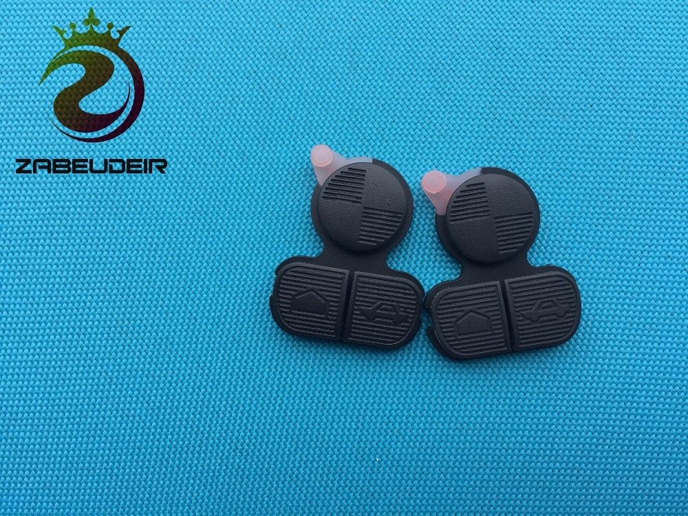 ZABEUDEIR 2 unids/lote 3 botones de tecla remota Pad para BMW 3 5 7 E31 E32 E39 E46 E52 remoto clave shell caso del