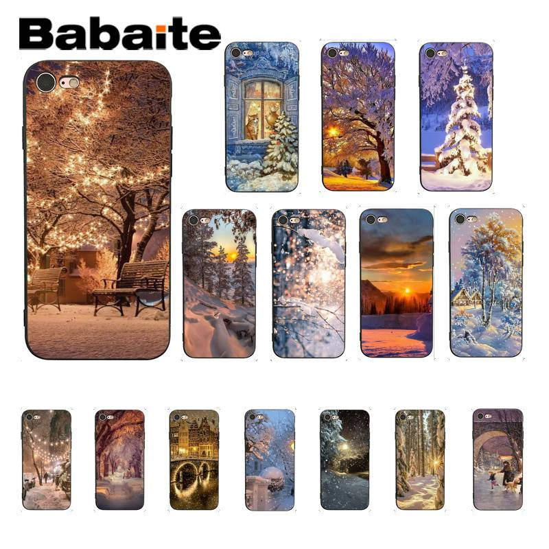Babaite invierno nieve de lujo diseño único iPhone 7 para iPhone 8 7 6 6S Plus 5 5S SE XR X XS X MAX 11 11pro 11promax