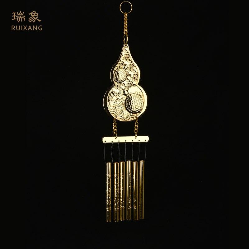 ¡Superventas! Colgante de elefante con forma de calabaza de cobre para decoración de puertas, colgante con campana de viento para sala de estar, balcón con ventana