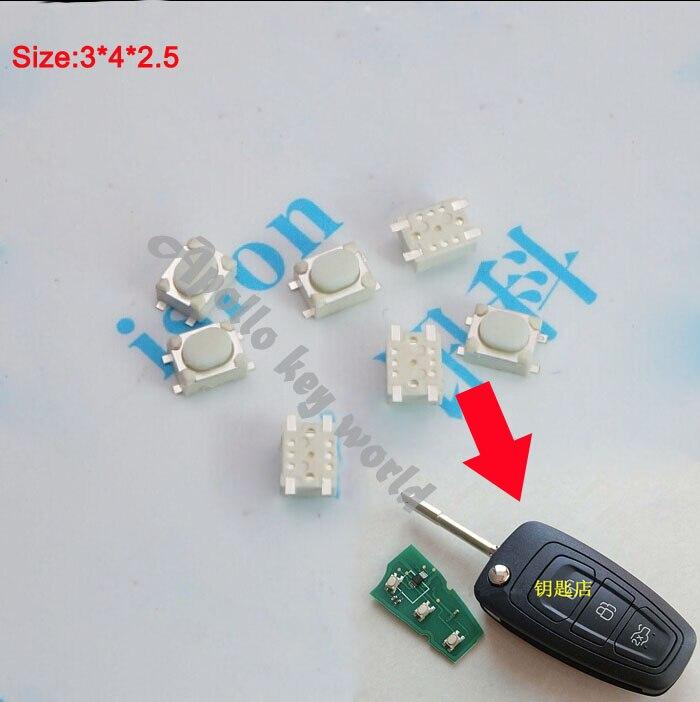 Botón Táctil MICRO interruptor SMD para FORD MONDEO FOCUS FIESTA S-MAX mando a distancia del coche (tamaño: 3*4*2,5) 50 unids/lote