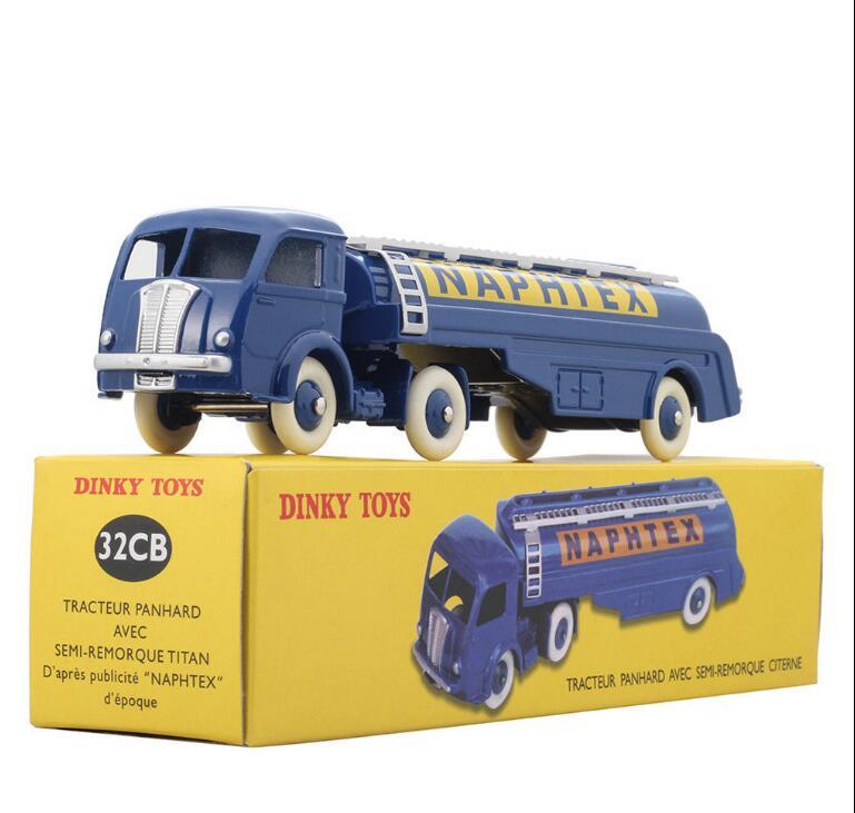 Атлас Dinky Toys 32CB, тягач Panhard NAPHTEX, полуприцеп, титан с танкером