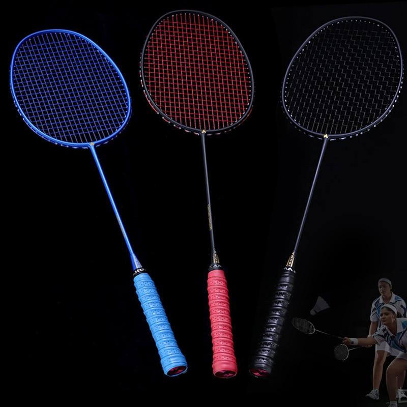 5U grafito sola raqueta de bádminton fibra de carbono profesional raqueta de bádminton con bolsa de transporte XR-caliente