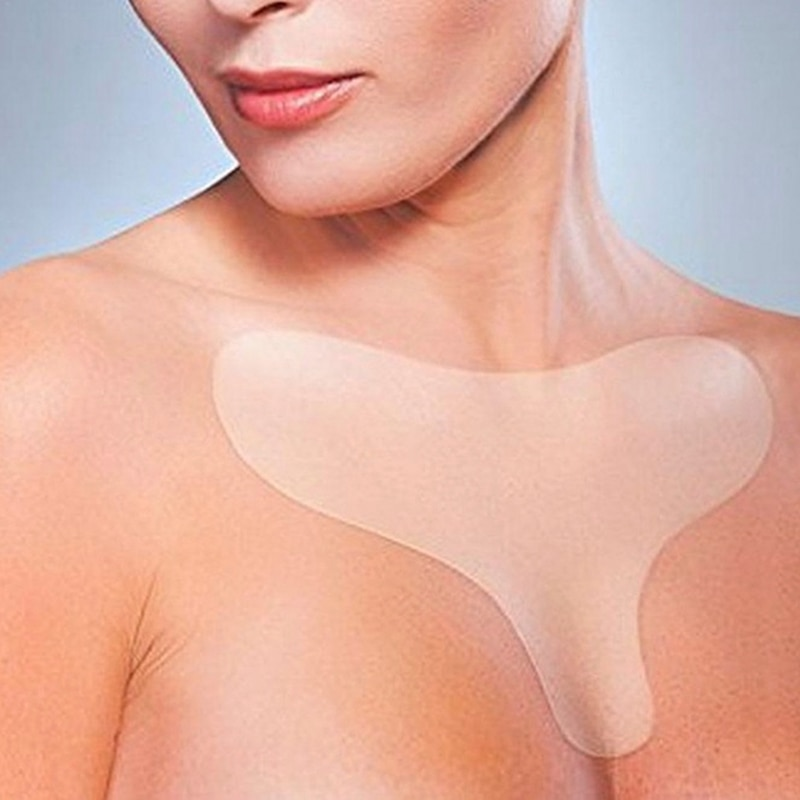 Reusable Anti Wrinkle Chest Pad Silicone Transparent Removal Patch Face Skin Care Anti Aging Breast