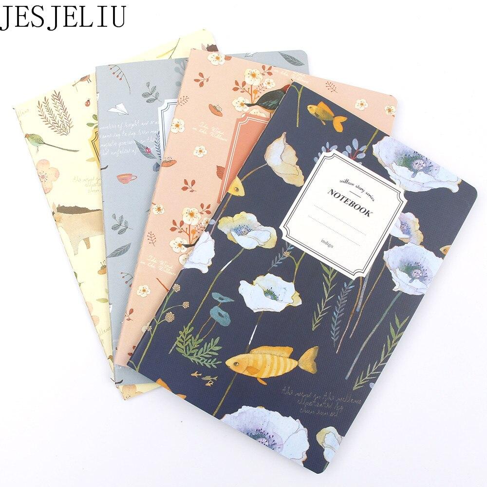 Милый мини винтажный блокнот с цветами, милые Блокноты с животными, блокнот для детей, подарки, корейские канцелярские товары для школы