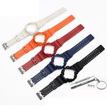 Bracelet en Silicone pour Casio GA-110 GA100 GD-120 bracelet de montre en caoutchouc de haute qualité avec boîtier de montre pour hommes bracelet de montre femme montre