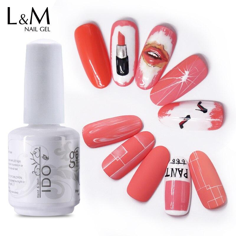 12pcs DHL IDO brand white bottle  Spring New Color DHL Free Shipping Uv led lamp Nail Gel Polish Nail Polish Gel Nails
